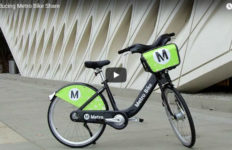A Metro Bike share bicycle. Photo from Metro/YouTube.