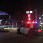 Gas station crime scene