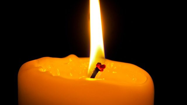A candle flame. Photo from Pixabay.