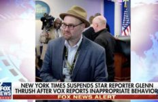 Glenn Thrush story is focus of Fox News.