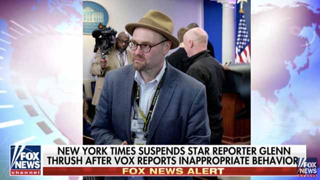 New York Times suspends star reporter Glenn Thrush after sexual misconduct allegations