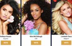 Miss USA Kára McCullough is shown in online voting page for Miss Universe pageant.