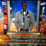 Tony Muhammad at Scientology awards ceremony.