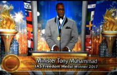 Tony Muhammad at Scientology awards ceremony.