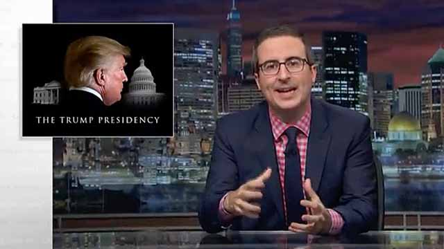 John Oliver takes on Donald Trump's presidency on Last Week Tonight
