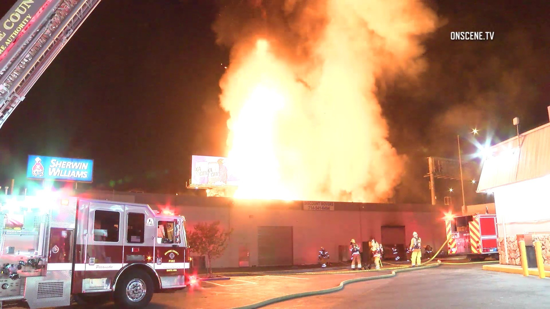 Three Alarm Blaze Destroys Santa Ana Moving Business