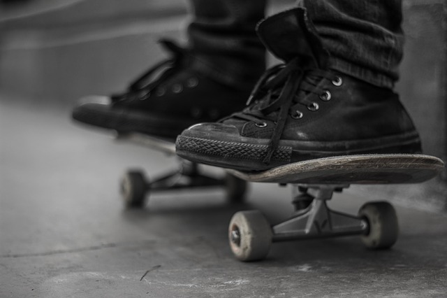 An example of a skateboard being ridden. Photo from Pixabay.