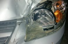 An example of a damaged headlamp on a car that has been in a collision. Photo from Pixabay.
