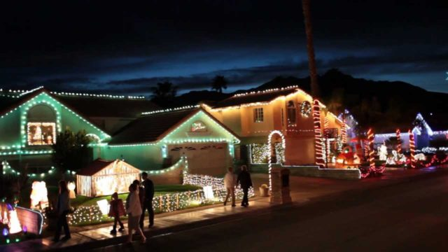 Candy Cane Lane in Cathedral City. File photo: YouTube