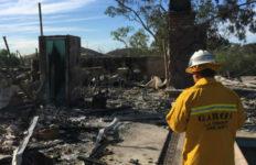 Destruction from Creek Fire