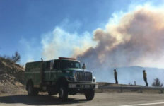 Smoke from Creek Fire