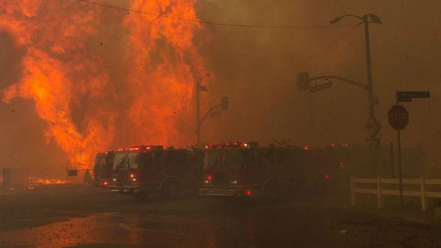 Creek Fire on Wednesday night