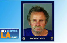 David Yates of Indio was arrested on suspicion of auto theft, trespassing and petty theft in Riverside. Photo from the Riverside Police Department.