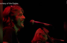 Glen Frey performs with his band, The Eagles. Photo from the New York Daily News/YouTube.