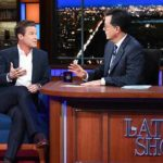 "Billy Bush talks to Stephen Colbert on ""The Late Show."""
