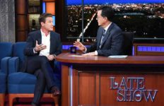 """Billy Bush talks to Stephen Colbert on """"The Late Show."""""""