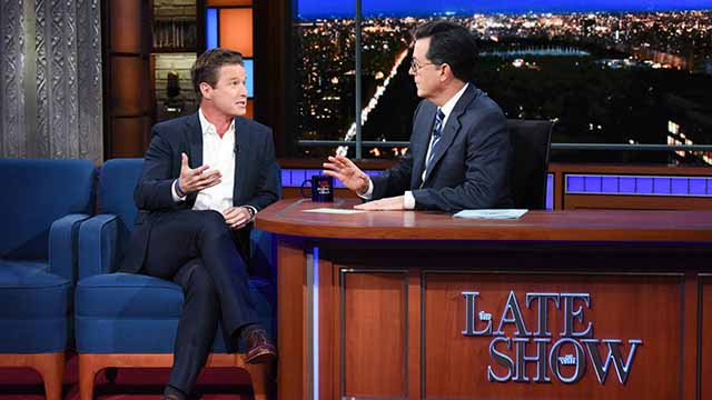 Billy Bush Rips Trump Over Pussy Grab Tape on Stephen Colbert