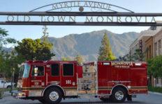 Monrovia Fire Department truck