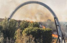 Rye Fire near Magic Mountain