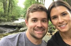 Ricky Stenhouse Jr. with Danica Patrick in late July 2017.