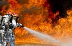 An example of firefighters at work. Photo from Pixabay.