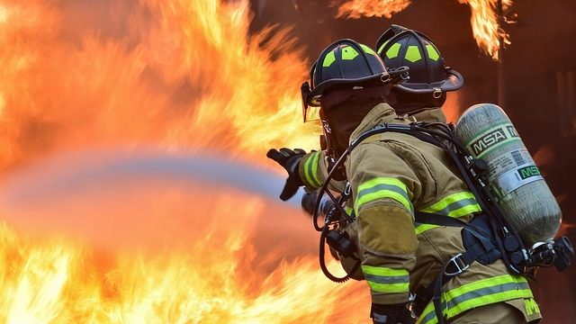 An example of firefighters at work extinguishing a blaze. Photo from Pixabay.