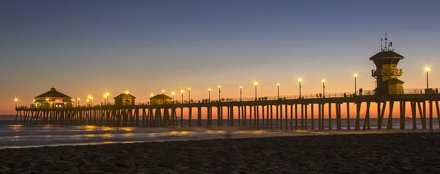 The Huntington Beach Pier. Photo from Pixabay.