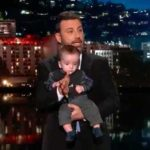 Jimmy Kimmel with his son Billy, who had heart surgery last week.