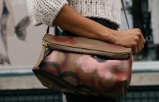 An example of a woman carrying a purse. Photo from Pixabay.