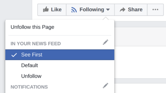 "Facebook ""see first"" setting"