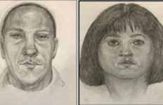 Police Tuesday circulated composite drawings of a man and woman being sought for swindling a 75-year-old North Hollywood woman out of about $45,000. Image from the Los Angeles Police Department.