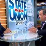 "George Stephanopoulos chats with Chris Christie on ABC's ""Good Morning America."""