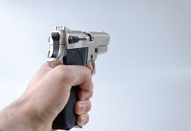 An example of a handgun being aimed. Photo from Pixabay.