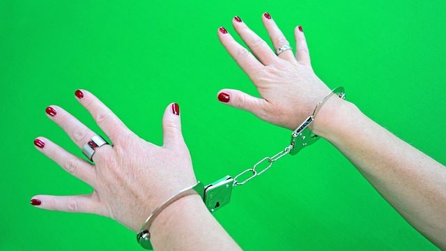 An example of a person in handcuffs. Photo from Pixabay.