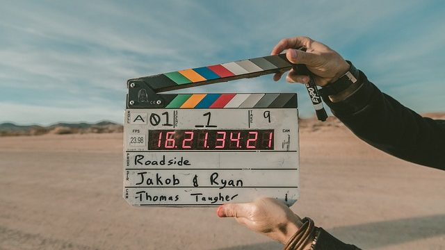 """A film set's """"clapper."""" Photo from Pixabay"""