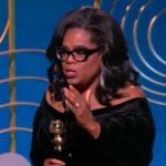 Oprah Winfrey at the Golden Globe Awards.