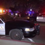 Santa Ana police cars night