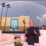 Ellen DeGeneres tells of seeing rainbow over her studio 10 minutes before her father died.