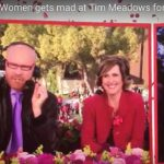 "Will Ferrell and Molly Shannon — as the fictional ""Cord and Tish"" — talk with Tim Meadows during parody coverage of Rose Parade."