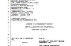 Wixen Music Publishing suit against Spotify USA Inc. (PDF)