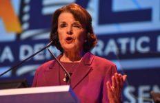 Sen. Dianne Feinstein speaks at California Democratic Party convention in San Diego.