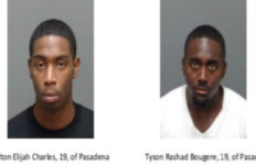 Two 19-year-old men from Pasadena were arrested on suspicion of residential burglary in Monterey Park. Photo from the Monterey Park Police Department.