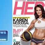 Karen McDougal, posted a magazine cover shot of herself on social media. Image via Instagram