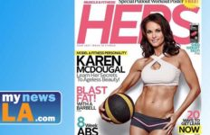 Karen McDougal, now 46, posted a magazine cover shot of her on Hers.