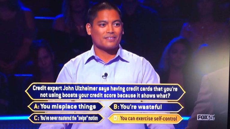 David Tamayo used process of elimination on the credit score question.
