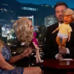 Stormy Daniels with Jimmy Kimmel, using dolls trying to extract info from former porn star.