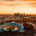 A view of Los Angeles with Dodger Stadium in the foreground. Photo from Pixabay.