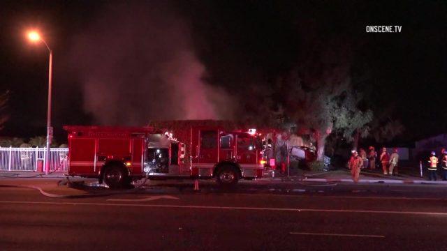Fiery car crash in garden grove kills 1 person Garden grove breaking news now