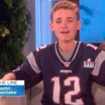 "Ryan McKenna reacts to hearing voice of Justin Timberlake on ""The Ellen DeGeneres Show."""