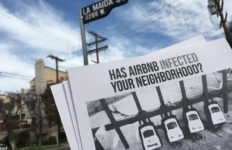 Airbnb protests in Los Angeles